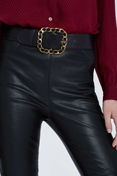 Nasty Gal Vintage Chanel Oversized Leather Belt