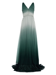Burberry Ruched Degrade Silk Crepon Gown