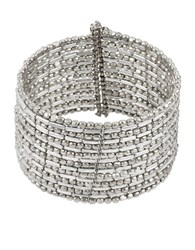Kenneth Cole Silvertone Seed Bead Coil Bracelet