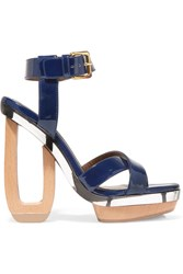 Marni Patent Leather And Perspex Sandals Blue