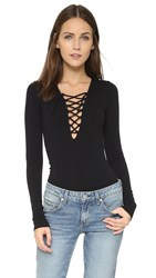 Free People Lace Up Layering Top Black
