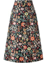 Red Valentino Floral Print Skirt Multicolour
