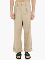 Christopher Raeburn Natural Wide Leg Cotton Chinos