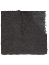 Faliero Sarti Chenille Frayed Edge Scarf Brown