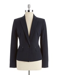 Anne Klein One Button Blazer Midnight Sky