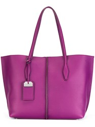 Tod's Large Tote Bag Pink Purple