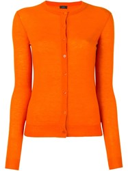 Joseph Classic Cardigan Yellow And Orange