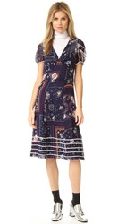 Hilfiger Collection Bandana Long Tea Dress Medieval Blue Multi