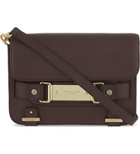 Kurt Geiger Charlie Leather Cross Body Bag Wine