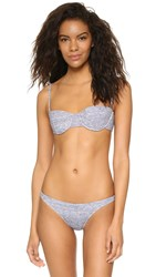 Milly Melange Jersey Maxime Bikini Top Heather Grey
