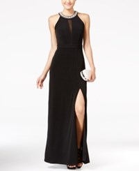 Speechless Juniors' Embellished Front Slit A Line Gown A Macy's Exclusive Ity