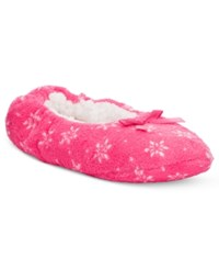 Charter Club Printed Slipper Socks Only At Macy's Pink Snowflakes