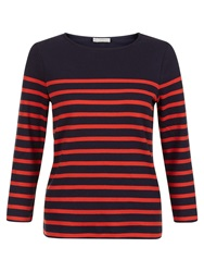 Hobbs Layla Cotton Top Navy Red