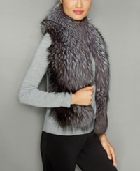 The Fur Vault Fox Scarf Silver