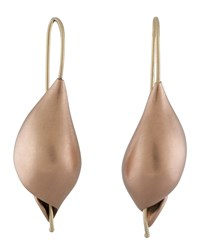Ted Muehling Rose Gold Snail Earrings Pink