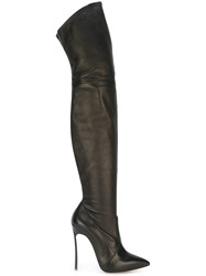Casadei Thigh Length High Boots Black
