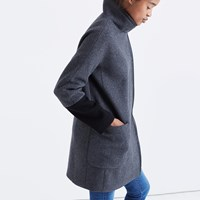 Madewell City Grid Coat In Colorblock