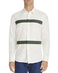 Soulland Asklund Taping Stripe Classic Fit Shirt Off White Green