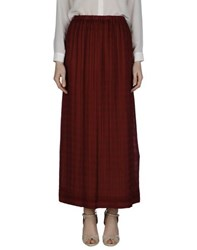 Momoni Momoni Skirts Long Skirts Women Maroon