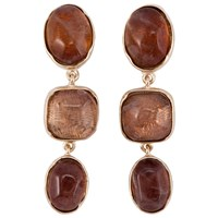 Goossens Paris Rock Crystal Earrings Brown