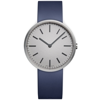 Uniform Wares M37 Wristwatch Brushed Steel And Blue Rubber