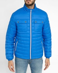 Tommy Hilfiger Blue Light Patch Pockets Down Jacket
