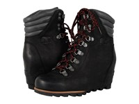 Sorel Conquest Wedge Black Women's Lace Up Boots