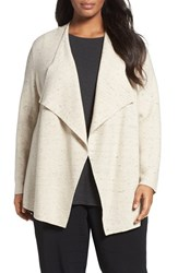Eileen Fisher Plus Size Women's Peppered Organic Cotton Blend Cardigan