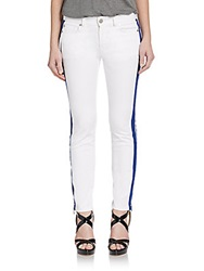 Alexander Mcqueen Side Striped Skinny Jeans Natural