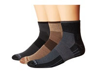 Wrightsock Escape Quarter 3 Pack Khaki Ash Black Quarter Length Socks Shoes Multi