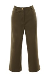 Francesco Scognamiglio Cropped Straight Legged Pants Green