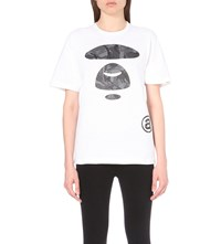 Aape By A Bathing Ape Big Face Cotton T Shirt White