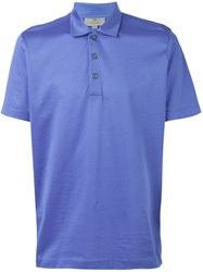 Canali Short Sleeve Polo Shirt Blue