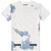 Off White Liquid Spots Tee White