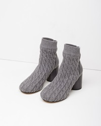 Maison Margiela Line 22 Cable Knit Sock Bootie Grey Melange
