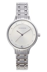 Skagen Women's 'Anita' Crystal Index Bracelet Watch 30Mm