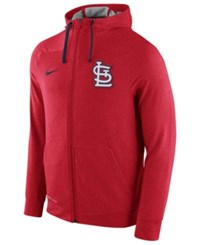 Nike Men's St. Louis Cardinals Dri Fit Touch Full Zip Hoodie Red