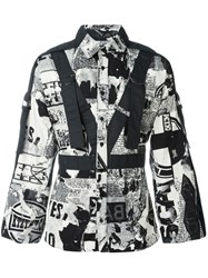 Ktz Newspaper Print Shirt Black