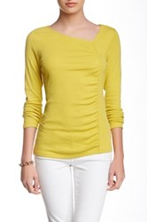 Lilla P Asymmetrical Neck Tee Yellow