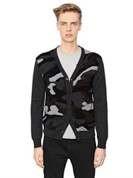 Hydrogen Camouflage Cashmere And Wool Cardigan