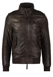 Blauer Leather Jacket Castagna Brown