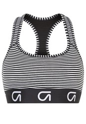 Gap Sports Bra Black Stripe