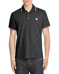 Moncler Tipped Regular Fit Polo Shirt Charcoal