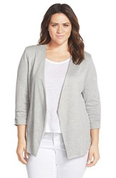 Plus Size Women's Tart 'Olga' Knit Jacket Heather Grey