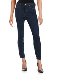 Free People Dark Wash Skinny Jeans Dark Denim