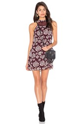 Band Of Gypsies Vintage Floral Shift Dress Burgundy