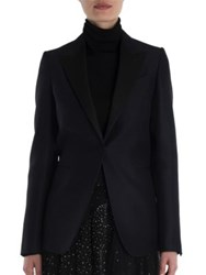 Valentino Wool And Silk Tuxedo Jacket Navy