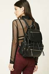 Forever 21 Faux Leather Backpack Black