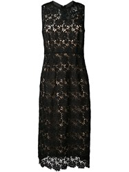 Muveil Lace Sleeveless Dress Black