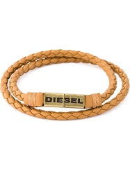 Diesel Braided Bracelet Nude And Neutrals